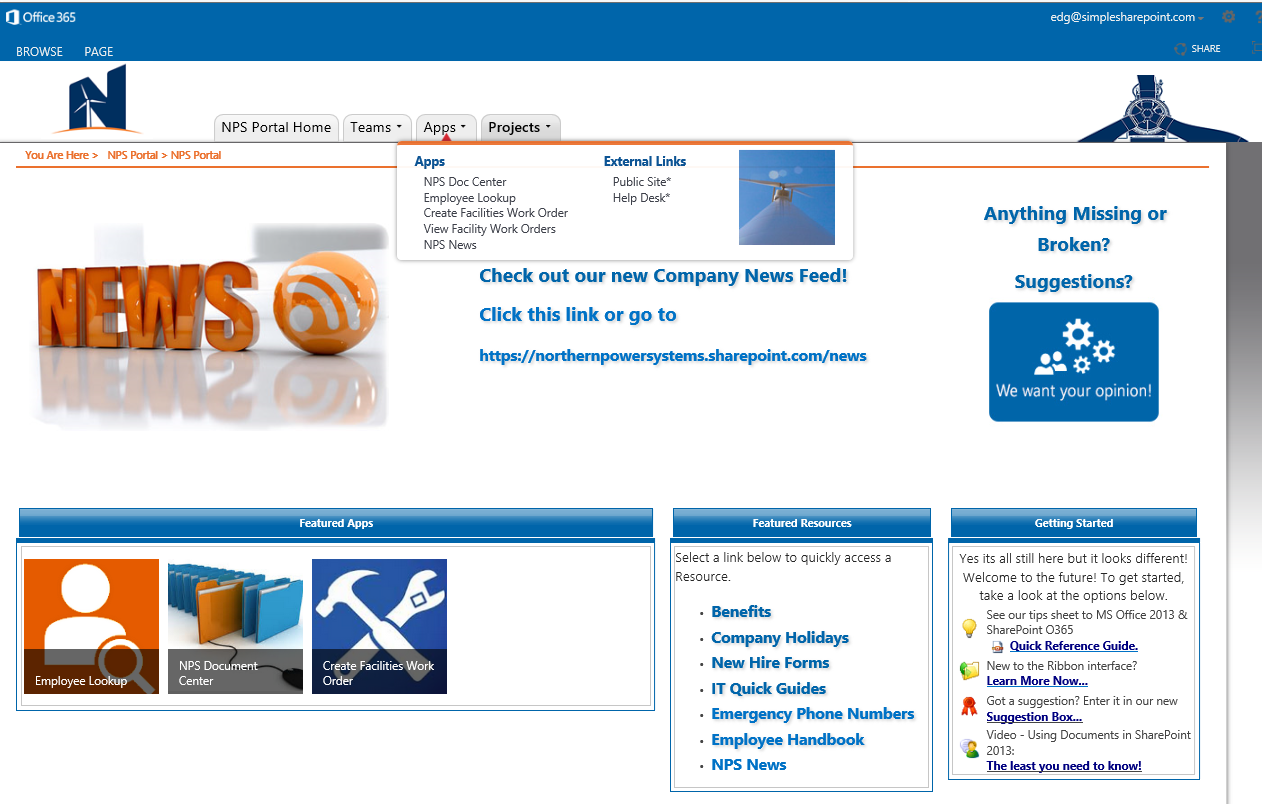 Intranet Home