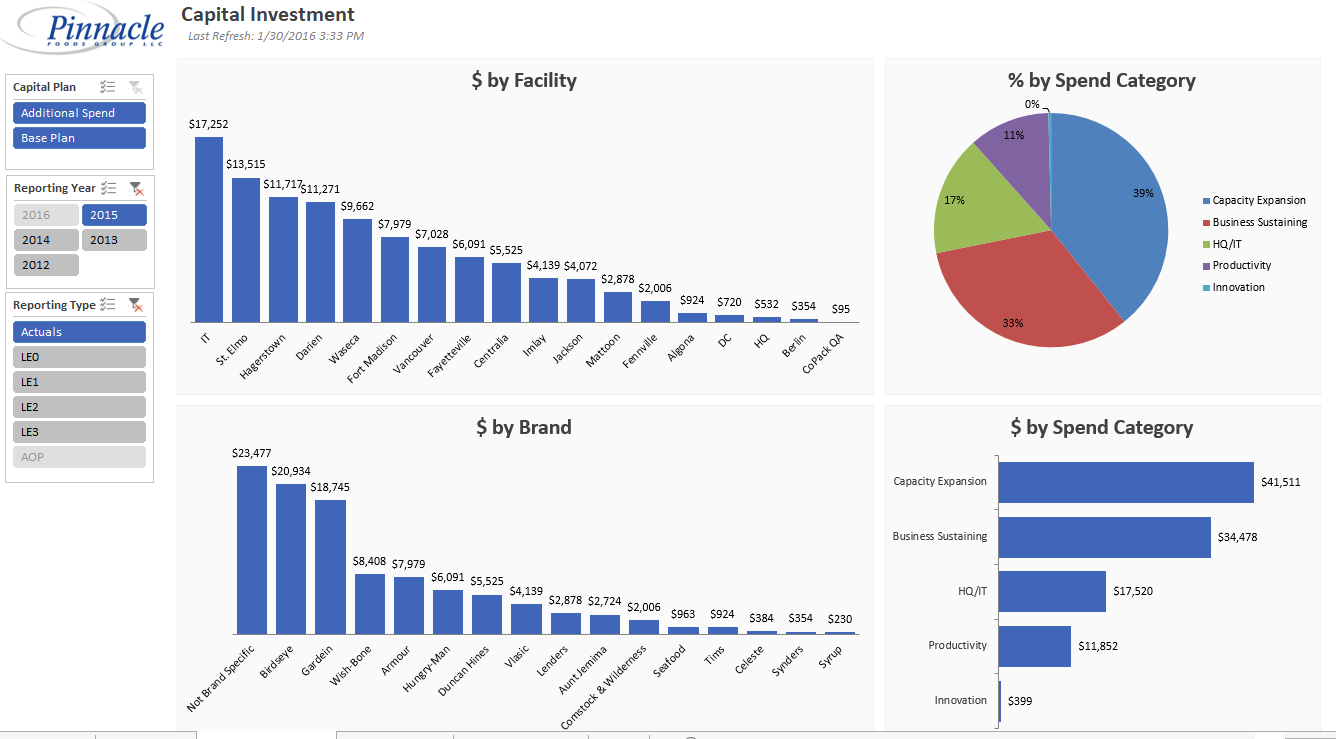BI PowerPivot Reports