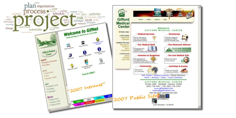 Gifford Medical Center - Intranet, Managed Services Banner