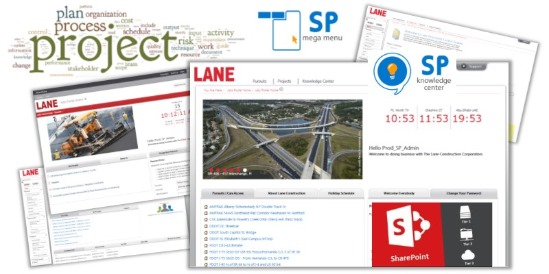 Lane - project mgt system driven by search and term store Banner
