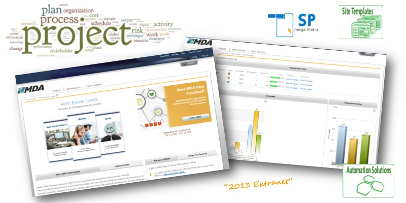 MDA - Extranet with ECS bi solution for tracking work orders Banner