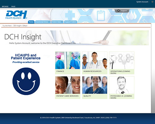 DCH Health System Intranet Homepage