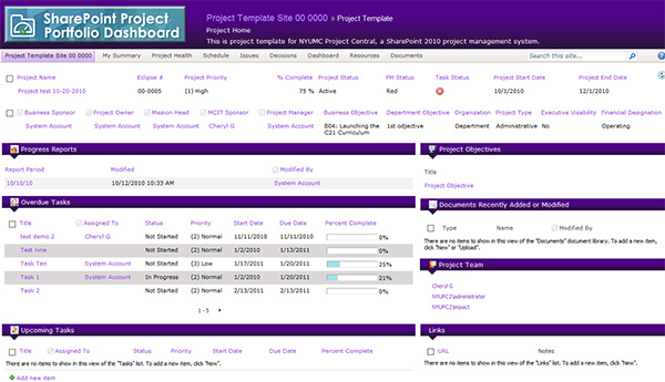 NYU Langone Medical Center Intranet Screenshot