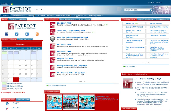 Patriot National Insurance Group Portal Screenshot