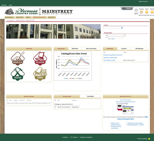 Vermont Country Store Portal Screenshot