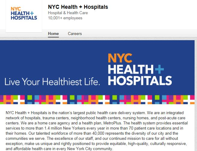 NYC Health & Hospital Corporation Portal Screenshot
