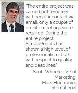 Mars Electronic International Scott Wheeler Testimonial