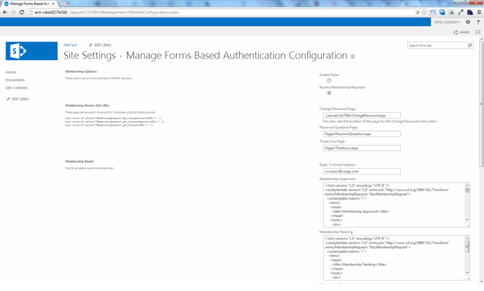 Forms Based Authentication in SharePoint - SharePoint